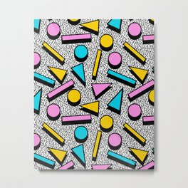 Dig It - memphis throwback retro neon cool rad pattern dorm college hipster neon squiggle abstract Metal Print