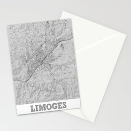Limoges Pencil City Map Stationery Cards