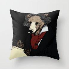 Bearthoven Throw Pillow