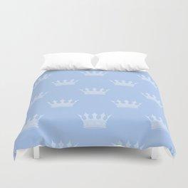Louis Blue Crowns- Prince of Cambridge Duvet Cover
