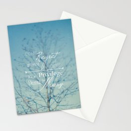 Don't Regret Stationery Cards