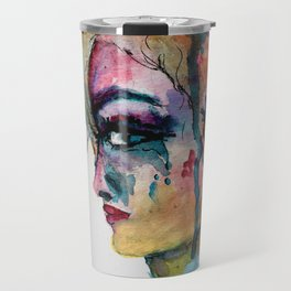 Color Stained Thoughts Travel Mug