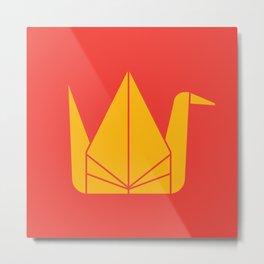 Japan Origami Metal Print