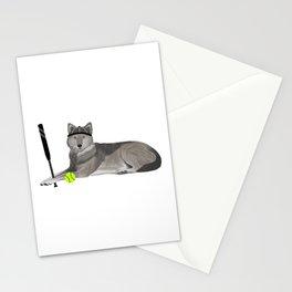 Softball Wolf Stationery Cards
