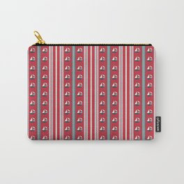 Striped Ahoy Red Carry-All Pouch