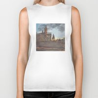 college Biker Tanks featuring Crouse College, Syracuse University by Ken Coleman
