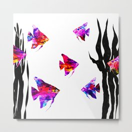 Red Fishes Metal Print