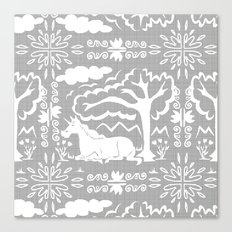 Unicorn Victorian Lace Canvas Print