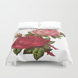 Roses Are Red And Pink... Duvet Cover