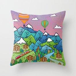 Swiss Throw Pillow