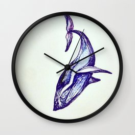 Whale Illustration Wall Clock