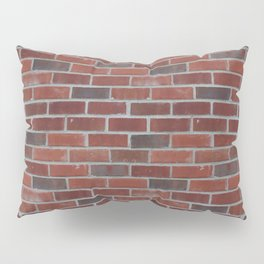 Brick Wall with Mortar - Red White Pillow Sham
