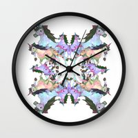 unicorns Wall Clocks featuring Unicorns by abbykaye