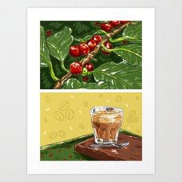 Foodie: Coffee Break Art Print