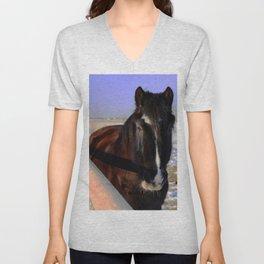 Mahogany Bay Draft Horse Unisex V-Neck