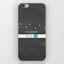 #1couplesur6 Chalkboard iPhone Skin