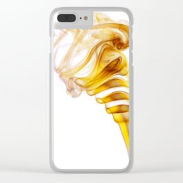 Yellow Smoke Clear iPhone Case