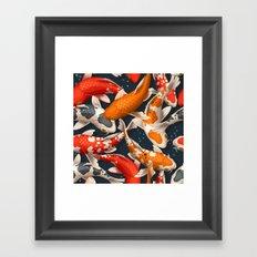 Koi Fishes Framed Art Print