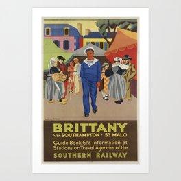 Britany Placard Art Print