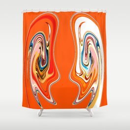 Faded Friend Shower Curtain