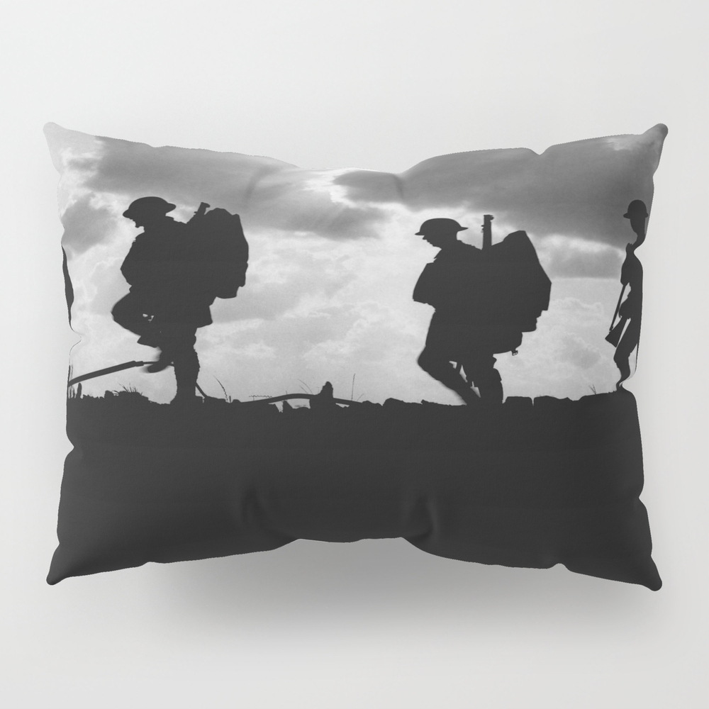 Soldier Silhouettes - Battle Of Broodseinde Pillow Sham by Warishellstore PSH7809675