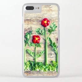Pepper flowers (23) Clear iPhone Case