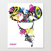 deadmau5 Canvas Prints featuring Deadmau5 by Sitchko Igor
