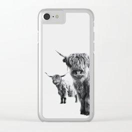 HIGHLAND COW - LULU & SARA Clear iPhone Case