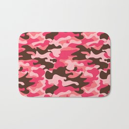 Pink Camouflage Bath Mat