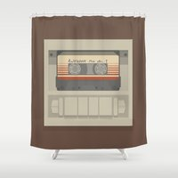 guardians of the galaxy Shower Curtains featuring Guardians of the Galaxy by bbaaahh