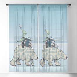 Nature warriors: From Pole to Pole Sheer Curtain
