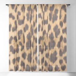 primitive trendy stylish fashionable safari animal leopard Sheer Curtain