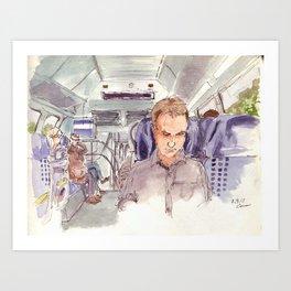 Regional train Art Print