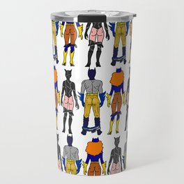 Superhero Butts Love 7 - Cat Bats Travel Mug