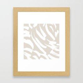 Neutral Brush Strokes Framed Art Print