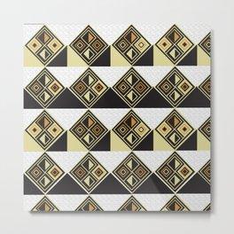 African Tribal Pattern No. 89 Metal Print