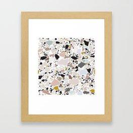 Terrazzo Pattern II. Framed Art Print
