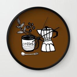 Coffee Doodles Wall Clock
