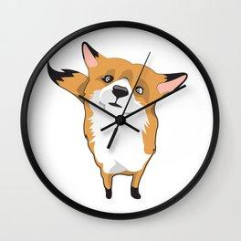 Cuty Fox Wall Clock