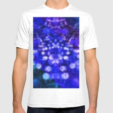 Abstract #2 White MEDIUM Mens Fitted Tee
