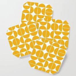 Mid Century Modern Geometric 04 Yellow Coaster