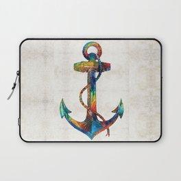 Nautical Anchor Art - Anchors Aweigh - By Sharon Cummings Laptop Sleeve