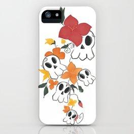 Skulls & Flora iPhone Case