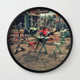 Colorful street Wall Clock