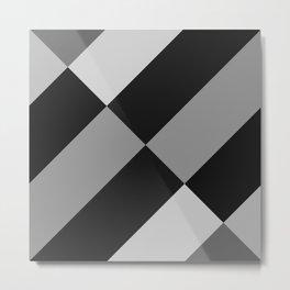 Angled Black and Gray Gradient Metal Print