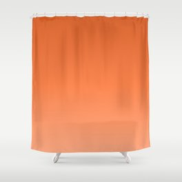 Sunny tangerine, gradient, Ombre. Shower Curtain