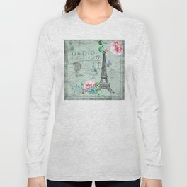 Paris - my love - France Eiffeltower Nostalgy - French Vintage Long Sleeve T-shirt