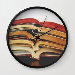 Book Love I Wall Clock
