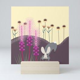 Liatris and Bunny Mini Art Print