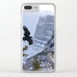 Mt Rundle & Raven (Canadian Rockies) Clear iPhone Case